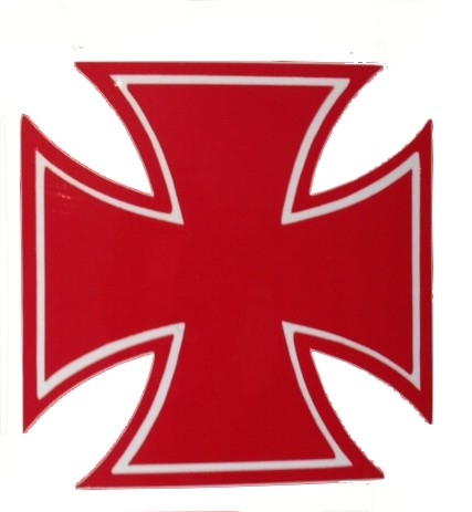 Eisernes Kreuz Aufkleber Rot Sticker Iron Cross 5 X 5cm